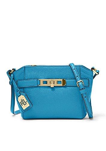 Lauren Ralph Lauren Darwin Leather Crossbody Bag, Color: Turk Blue (Lauren Ralph Lauren Tate Patent Leather Crossbody)