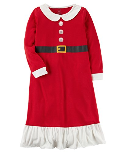 Carter's Girls' L/S Holiday Nightgown (Toddler/Kid) (2-3, Red Mrs. Claus)
