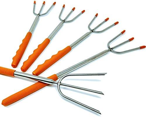 UPGRADED Marshmallow Roasting Sticks - 3 Prong Telescopic Forks - 45.5