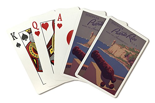 Puerto Rico, USA - Vintage Travel Advertisement (Playing Card Deck - 52 Card Poker Size with Jokers) by Lantern Press