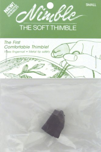 (Leather Nimble Thimble With Metal Tip-Small 1 pcs sku#)