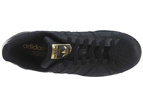Adidas Originals Heren Superstar Fashion Sneaker Zwart / Zwart-goud Metallic