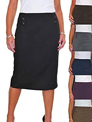 icecoolfashion Below Knee Lined Pencil Skirt Washable Office Day 6-16