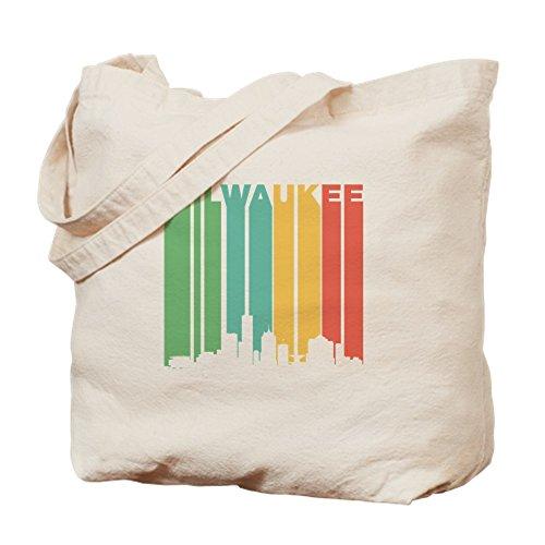 CafePress diseño de MILWAUKEE Cityscape–Gamuza de bolsa de lona bolsa, bolsa de la compra Medium caqui