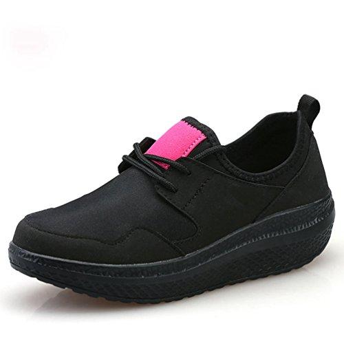 Negro de Zapatillas JITIAN Mujer Sintético Deporte de RYW5xz8