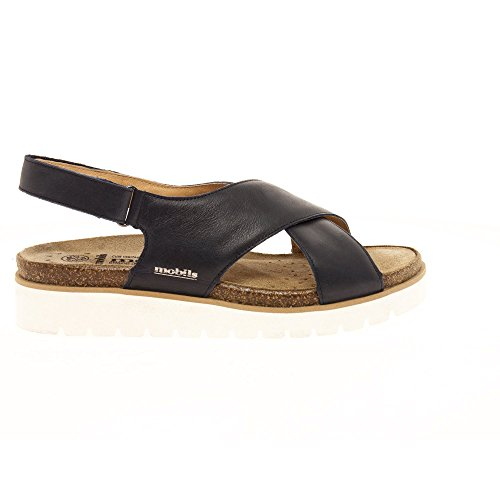 Mephisto Women (Foot Foundation) Tally 2645 Women's Sandal in Navy Blue Leather 656 Navy zjaHcn