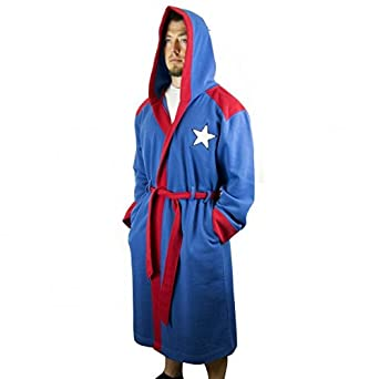Marvel Captain America Hooded Robe with Belt  35acb46cc