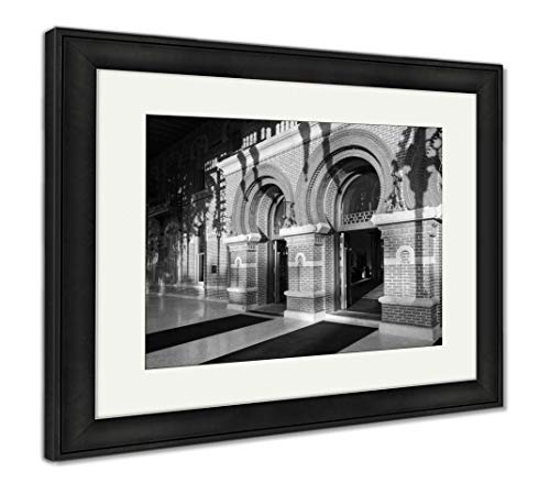 Ashley Framed Prints Moorish Architecture of University of Tampa, Wall Art Home Decoration, Black/White, 34x40 (Frame Size), Black Frame, AG6112894