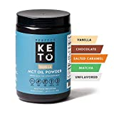 Health & Personal Care : Perfect Keto MCT Oil C8 Powder, Coconut Medium Chain Triglycerides for Pure Clean Energy, Ketogenic Non Dairy Coffee Creamer, Bulk Supplement, Helps Boost Ketones, Vanilla