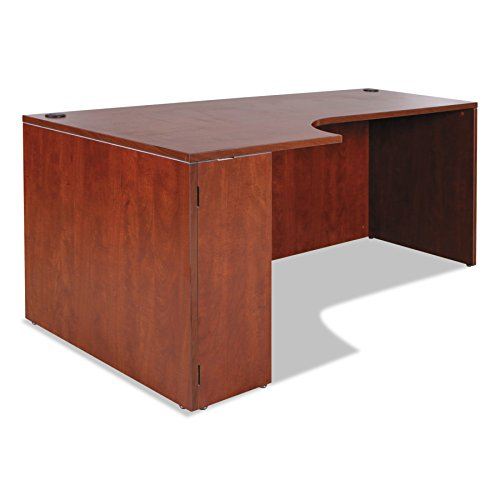 - Alera ALEVA25L7236MC Valencia Left Corner Credenza Shell, 72 x 35 1/2 x 29 1/2, Medium Cherry