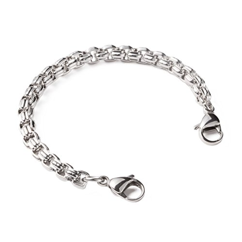 linnalove-Stainless Steel Rolo Chain Interchangeable Bracelets-Match Medical id tag(7