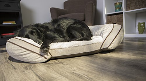Sterling Premium Cooling Gel Memory Foam Pet Bed, Plush with Woven Linen, Beige by Sterling (Image #10)
