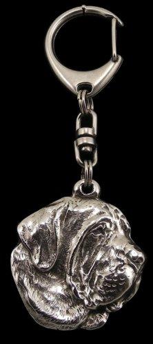 Filia Brasileiro, Silver Hallmark 925, Silver Dog Keyring, Keychain, Limited Edition, Artdog by Art Dog Ltd.