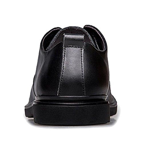 Mens à en Classique Cuir Derby De Soirée De Véritable Fit De Robe Lacets Black Chaussures Lacets Mariage à MERRYHE Chaussures xwCznYq8tI