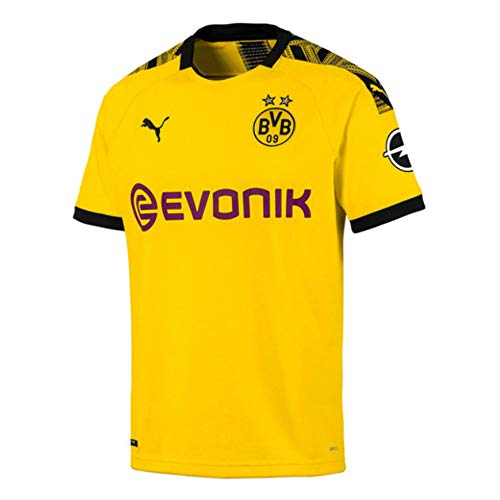 6892085787c PUMA Borussia Dortmund FC 2019/20 Short Sleeve Home Jersey - Adult - Cyber  Yellow/Black - XL