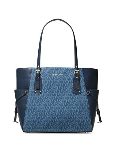 MICHAEL Michael Kors Mercer Leather Crossbody (One Size, Denim)