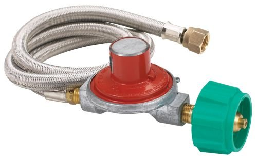 Bayou Stainless Steel 10 PSI Propane Regulator Kit