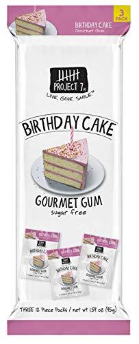 Project 7 Birthday Cake Gourmet Gum - 18 per - 7 Project Birthday Cake