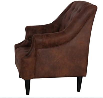 Clubsessel Vintage Sessel Smoke braun Lederoptik Textil