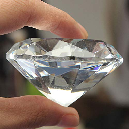 Finance Plan 40mm Clear Paperweight Faceted Cut Glass Giant Artificial Diamond Jewelry Decor Ornament Home Venue Decorations