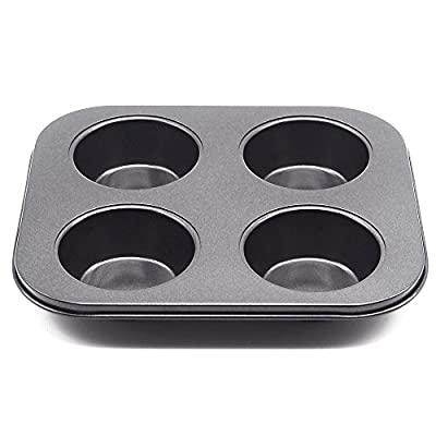 Wenwins 4 Cup Muffin Pans-baking cups-Non Stick Bakeware for Muffins
