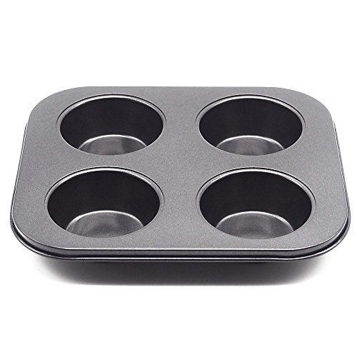 Wenwins 4 Cup Muffin Pans-baking cups-Non Stick Bakeware for Muffins (4 Cup Muffin Pan)