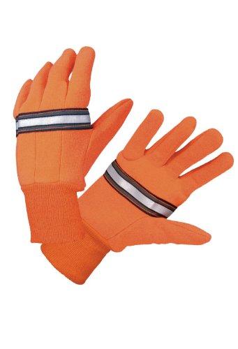 Hatch RTG100 Reflective Traffic Glove, Orange, Large