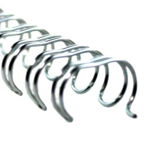 (Silver Spiral-O 19 Loop Wire Binding Combs - 100pk (3/8