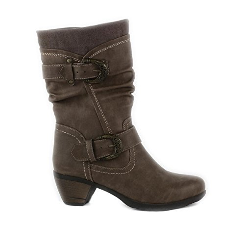 Lilley - Bota marrón, para mujer, con hebillas decorativas Lilley Marrón