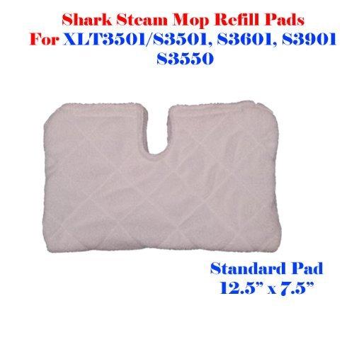 Standard Size (12.5'' X 7.5'') Steam Mop Replacement Pocket Pads for Erop-pro Shark S3501 S3601 S3901 Se450 (1, Standard 12.5'' x 7.5'')