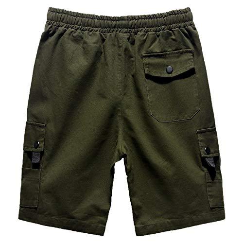 Short Solid Boys Basic Sweatshorts Fashion Abbigliamento Simple Shorts Pantaloni Grün 4 Mens Sportivi Festivo Echiondon Bermuda Colors 3 E dtnqvTvxW