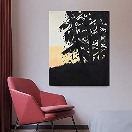 KWzEQ Famoso Pintor Negro Vista Lienzo Pintura al óleo impresión Sala de Estar decoración del hogar Moderno Arte de la Pared,Pintura sin Marco,60x75cm