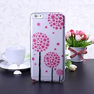 Mini - Pink Flowers Pattern TPU Soft Case for iPhone 6 Plus