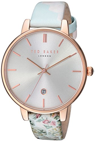 Ted Baker Women's Kate Stainless Steel Quartz Watch with Leather Strap, Multi, 14 (Model: TEC0025003)