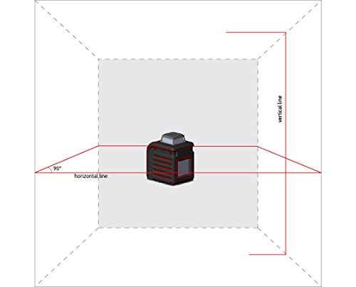 AdirPro Cube 360 Horizontal Cross Line Laser with Accessories, Red/Black by AdirPro (Image #1)