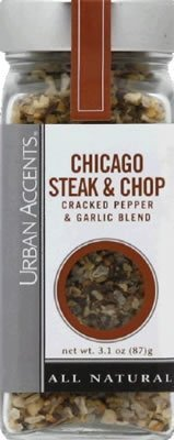 Chicago Steak & Chop Cracked Pepper & Garlic Blend (Pack of 4) by Urban Accents