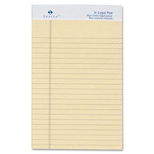 SPR01069 - Sparco Colored Jr. Legal Ruled Writing Pads - Jr.Legal