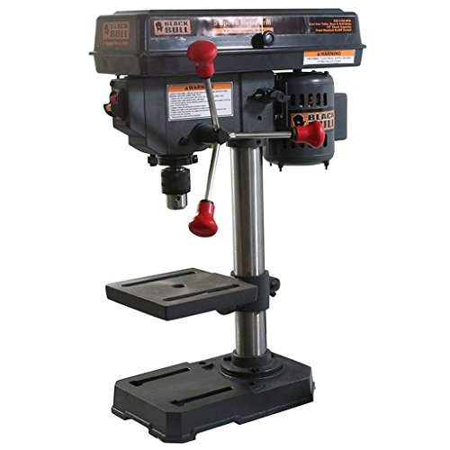 5-speed Drill Press, Cast-iron table, base and drill body, Max Speed: 760 to 3,070 RPM