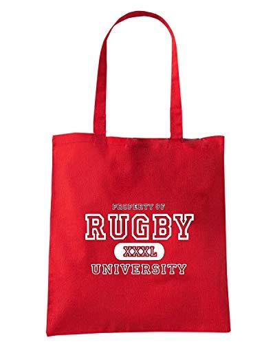 Speed Shirt Borsa Shopper Rossa TRUG0158 RUGBY UNIVERSITY LOGO