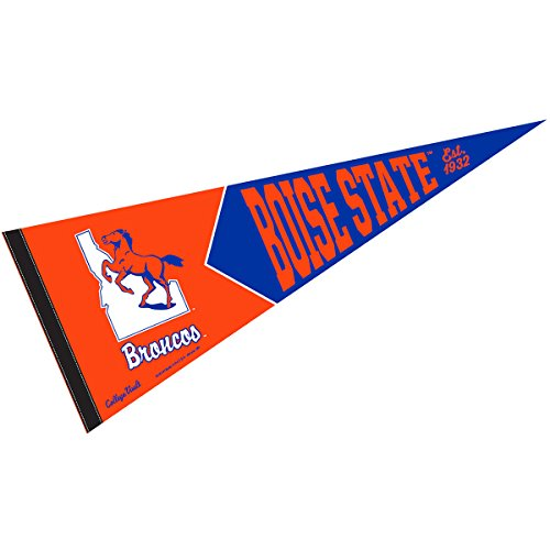 Wincraft Boise State Broncos College Vault and Throwback Pennant Boise State Broncos Wool