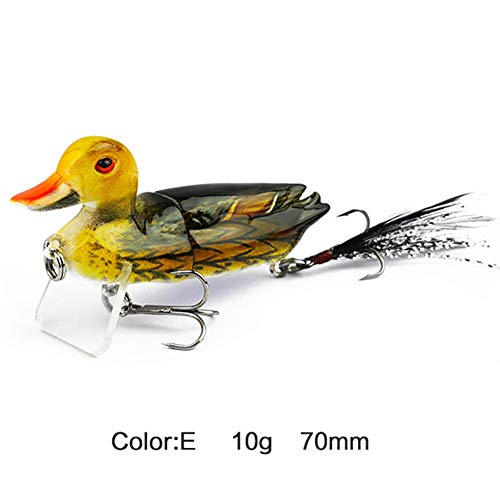 enjtsgyt 3D Suicide Floating Duck Artificial Bait Bass Muskie Pike Fishing Lure Bait X5Y2 Accessories