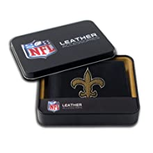 NFL New Orleans Saints Embroidered Genuine Cowhide Leather Billfold Wallet