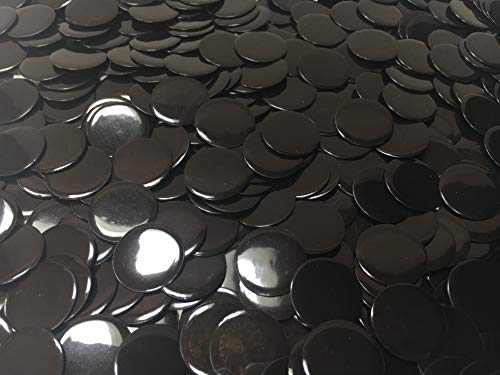 150 Solid Black Bingo Chips 3/4 Inch (Marketing Poker Chip)