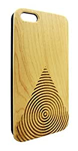 Genuine Maple Wood Organic Geometric Triangle Design Snap-On Cover Hard Case for iPhone 4/4S