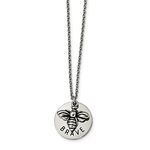 Gold Enameled Bumble Bee - Jewel Tie Stainless Steel Polished and Enameled Bumble Bee Brave 22in Necklace Chain 22
