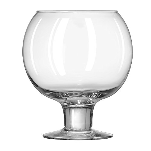 Libbey Super Globe Footed Fish Bowl Glass - 51 oz - Hand Blown (SINGLE) (Best Fish Bowl Drinks)