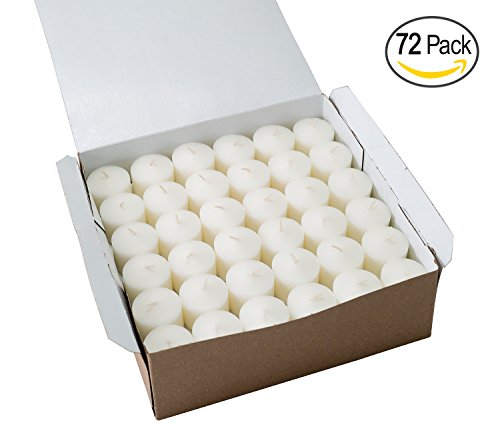 [Votive Candle, Unscented White Wax, Box of 72, for Wedding, Birthday, Holiday & Home Decoration (10 Hour) by Royal Imports] (Sphere Wall Sconce Outlet Box)
