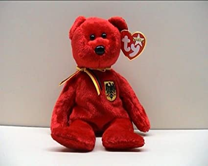 9b619f200dc Image Unavailable. Image not available for. Color  TY Beanie Baby - GRAF  VON ROT the Bear (Germany ...