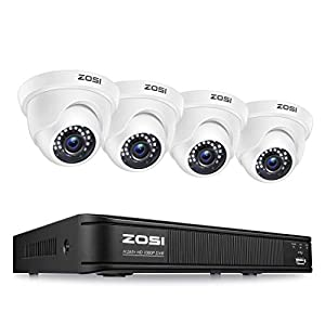 Flashandfocus.com 41y%2BZs2LFBL._SS300_ ZOSI 1080P H.265+ Home Security Camera System,5MP Lite 8 Channel Surveillance DVR and 4 x 1080p Weatherproof CCTV Dome…