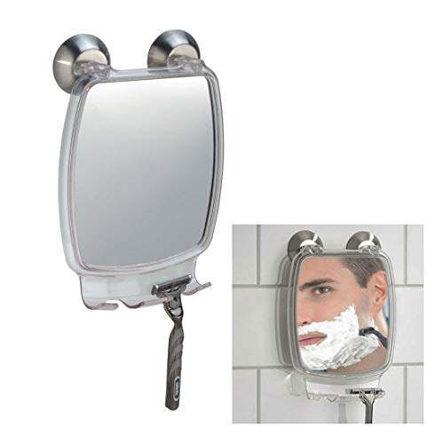 Fog Free Shower Shaving Rectangular Mirror - With Power Lock Suction Mount by Unknown
